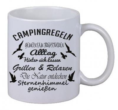Kaffee Tasse Campingregeln Wohnwagen Camper Zelt Weihnachten Geschenk