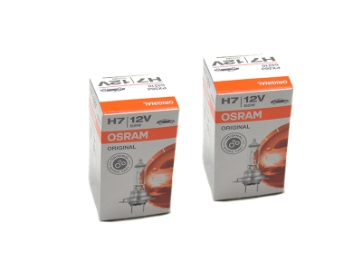 2 x Original OSRAM H7 12V 55W High Tech Longlife PX26d Halogenlampe Lampe