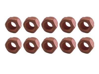 10 x Kupfermutter M8 Kupfer Mutter Auspuff Auspuffhalter Krümmer Turbolader