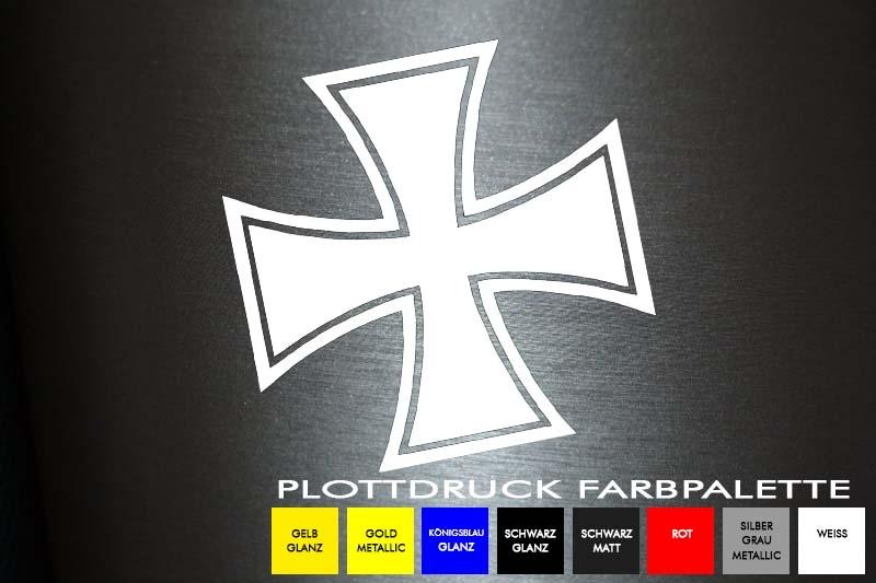 1 X 2 Plott Aufkleber Eisernes Kreuz 15x15 Cm Sticker Autoaufkleber Shocker Fun