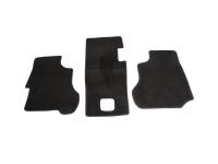 VW Bus T2 T3 Fußmatte Fußmatten Set vorne schwarz Textilfussmatte Matte 3 Stück