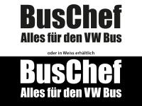 1 Stück Gratis Buschef Plott Autoaufkleber 17 cm x 6,5 cm
