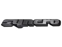 VW Bus Bulli T3 Schriftzug Logo Emblem CHROM SCHWARZ Syncro